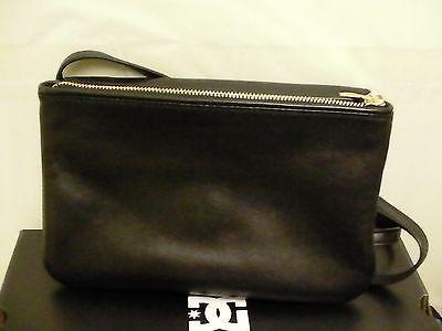 Women Tory Burch Priscilla Convertible Clutch Cross body Bag $425 Black Leather