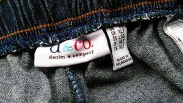 Denim & Company Elastic Waist Jeans Size LT Dark Blue image 10