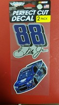 """NASCAR Dale Earnhardt Jr. Perfect Cut Decal Set Of Two 4"""" x 4"""" - $13.71"""