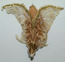 Sterling Angel Icicle Ornament Silver and Gold Bird Sequined Mesh Wings image 2