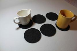 Felt Coaster Simple Shape Circle  Set of 6 Round Coasters Grey and Mix Colour - $7.20