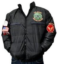 Mens black long sleeve aviator jacket by London Basic Military Jacket S-XL - $49.64