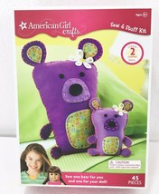 American Girl Crafts Sew & Stuff Kit NEW Makes 2 Stuffed Bears 45 Pieces - $20.09