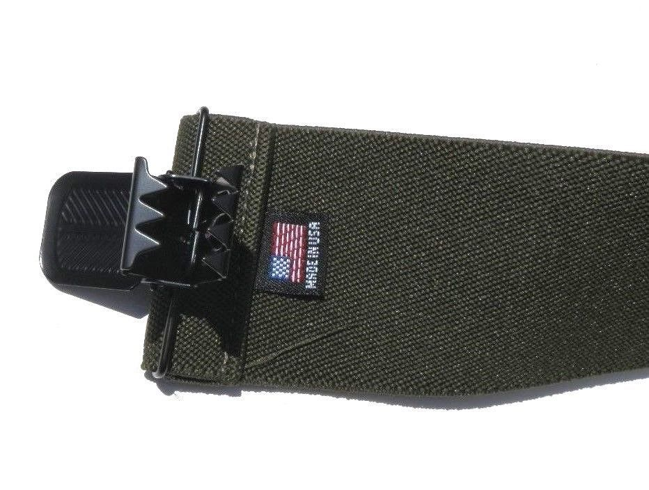 "2"" Olive Drab Suspenders - Clip On"
