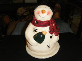 Adorable 2-Piece Chubby Snowman Votive or Tealight Candle Holder - $21.77