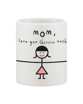 Cute Mother's Day Gift for Mom Ceramic Coffee Mug - MOM, I Love You Thiiiis Much - $14.99