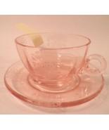 Original Pink Flanders Elegant Tiffin Glass Cup... - $79.95