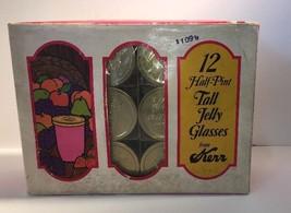 Vintage Jelly Glass Kerr Jars 1/2 Pint Narrow M... - $45.53