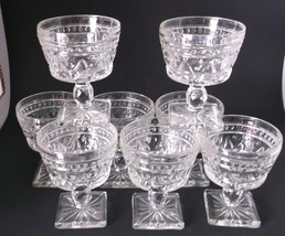 Indiana Colony Park Lane Sherbet Dessert Goblets Vintage Set Thumbprint ... - $37.98
