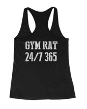 Gym Rat 24/7 365 Back Print Women's Workout Tank Top Sleeveless Sports T... - $14.99+