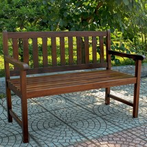 International Caravan Highland 4 Ft. Stained Patio Bench - $202.46