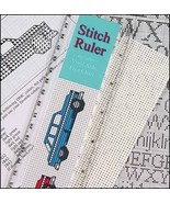 Acrylic Stitch Ruler vinyl weave cross stitch 1... - $6.00
