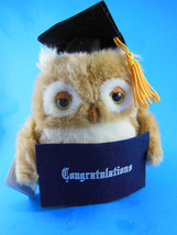 Russ Berrie Applause Plush Owl for Graduation Gift Congratulations Mint ... - $6.62