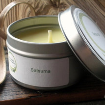 Satsuma (Body Shop Type) Soy Candle Travel Tin 6 oz - $8.00