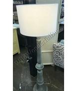 Pottery Barn Brookings Floor Lamp Gray 60H Light Lampshade Included NIB - $249.00