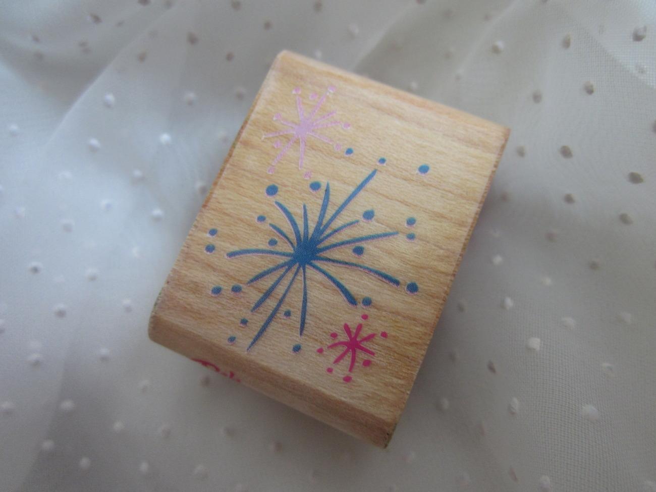 Posh Impressions Glimmering Glitz Fireworks Stamper 4th of July Z366-B