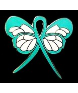 Uterine Cancer Lapel Pin Teal Awareness Ribbon ... - $10.97
