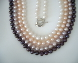 18''- 7mm Cultured Freshwater Pearl Necklace Various Color Choices - $71.40