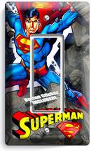 Superman Cartoon Comics Single Gfci Light Switch Wall Plate Cover Boys Bedroom - $11.99
