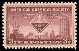 1951 3c American Chemical Society, 75th Anniversary Scott 1002 Mint F/VF NH - $0.99