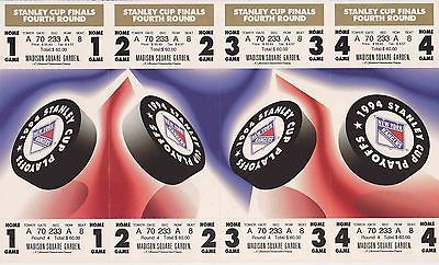 NEW YORK RANGERS Full Strip of Full Tickets 1994 Stanley Cup Finals