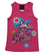 Girls Rule Size 4 Girls Pink Ribbed Tank Top - $2.99