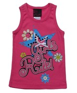 Girls Rule Size 6X Girls Pink Ribbed Tank Top - $2.99