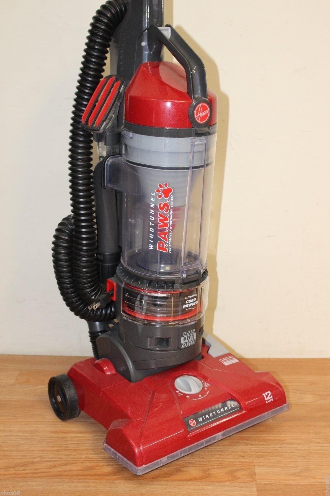 Hoover Windtunnel Cord Rewind PAWS Vacuum Bagless Upright