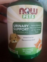 Now Pets Urinary Support For Dogs/Cats 90 Chewable Tablets  - $35.52