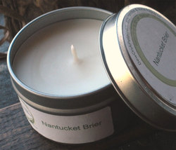 Floral Soy Candle, Blend of Orchid, Musk, Bergamot, Patchouli, Light Florals Tin - $8.00