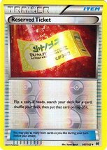 Pokemon - Reserved Ticket (147/162) - XY BREAKthrough - Reverse Holo - $0.83
