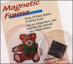 "Acrylic Round  2.25"" magnetic frame refirgerator cross stitch  - $2.25"