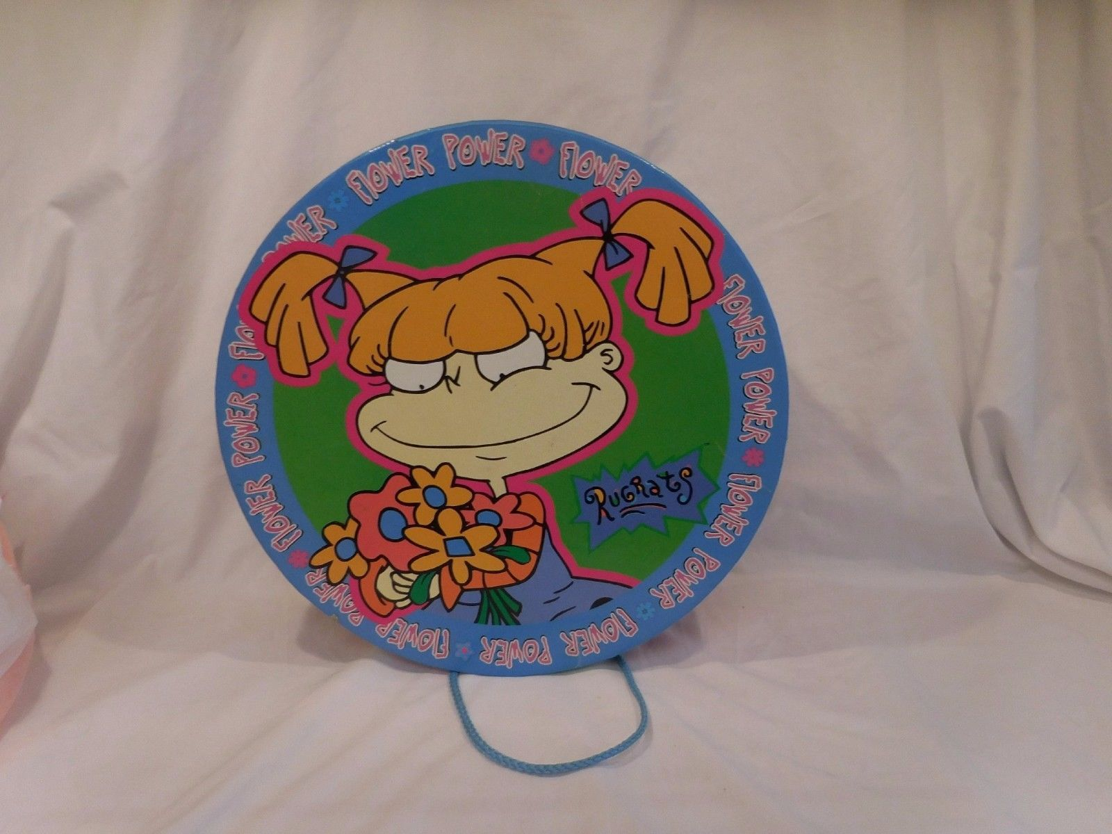 Primary image for Vintage Rugrats Hat Box Carry Case Flower Power Angelica Charlotte Pickles Rare