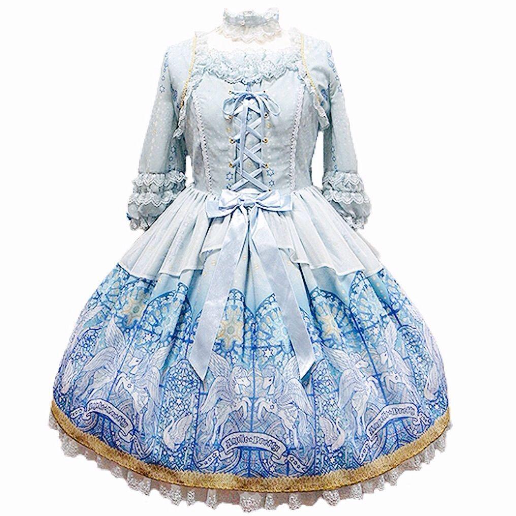 Angelic Pretty Luminous Sanctuary Dress + Choker Lolita Japanese Fashion Kawaii