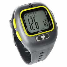 BRAND NEW C9 Champion Grey Yellow PACE Heart Rate Monitor Wrist Band Alarm Watch
