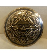 Vintage Pre-1980 Mexico Sterling Silver Aztec Mayan Pin / Brooch Signed... - $49.00