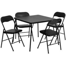 Flash Furniture 5 Piece Black Folding Card Table and 90 cm or less,  - $124.91