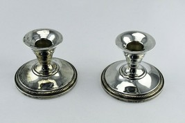 "Vintage M. Fred Hirsch Co. 315 Sterling Silver Candle Stick Holders 3"" x... - $39.59"