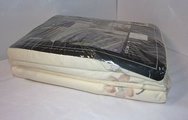 4 Pc Floral Full Sz Sheet Set Ivory Green Purple Cannon MONTAUK Standard... - $41.53