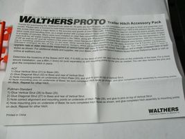 Walthers Proto Stock # 920-6060 Trailer Hitch Accessory Pack PS & ACF Hitches HO image 7