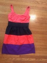 Agb Color Block Large Dress Sleeveless Short - $6.87