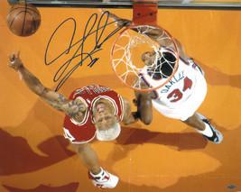 Dennis Rodman signed Chicago Bulls 16X20 Photo w/ Charles Oakley (left sig) - £32.81 GBP
