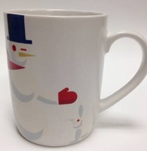 New~Starbucks Winking Snowman Top Hat Red Scarf Holiday Logo Mug Cup 201... - $7.57
