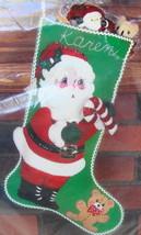 Bucilla Felt Jeweled Stocking Craft Kit 32263 Santa & Candycane Christmas* - $20.00