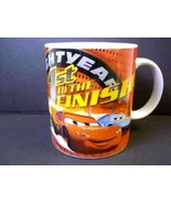 CARS coffee mug 1st to the Finish Line Lightning McQueen Disney Pixar 10 oz - $6.76