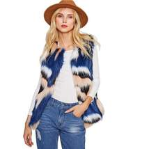 Faux Fur Collarless Autumn/Winter Jacket - $78.00