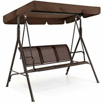 Modern 2-Person Swing Chair Convertible Canopy Outdoor Garden Patio Deck... - $148.40
