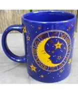 Cobalt Blue Mug Cup with Zodiac Gold Trim 1994 J.I.I. - $12.99