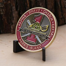 "MARINE CORPS FIRST RECRUIT TRAINING BATTALION PARRIS ISLAND 1.75"" CHALLE... - $17.14"