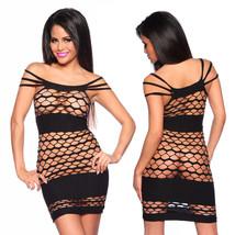 Negligé Club abito nero lingerie abbigliamento da discoteca biancheria sexy image 2